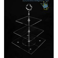 Quality CD (42) 3-layer cake stand with silver stick for sale