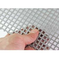 Quality Decorative Square Hole Perforated Sheet Metal Type 304 Stainless Steel Extremely Versatile for sale