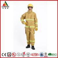 Quality Heat Insulation Firefighter Uniform / Firefighting Fire Suit Antistatic and Waterproof for sale