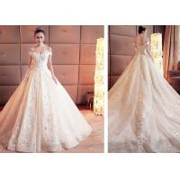 Quality Breathable Princess Dream Ball Gown Style Wedding Dresses With Long Trains for sale