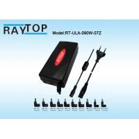Quality Red Color LED Halo 90W Automatic Universal Laptop Charger Dual USB 5V 3.1A 10 Tips for sale