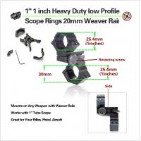 Quality Low Profile Rifles Tactical Scope Rings With Picatinny Rail , Hunting Gun Accessories for sale