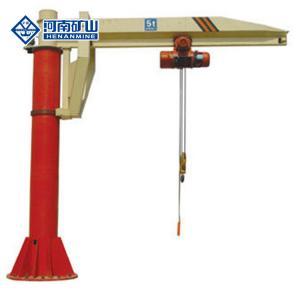 China 8m/Min 5 Ton Electric Hoist Floor Mounted Pillar Jib Crane on sale