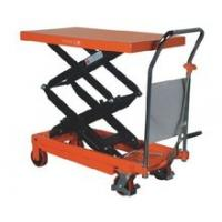 Quality Hydraulic Platform Scissor Lift Table Cart With Chrome Plated Handle for sale