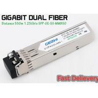 1.25G 850nm Fp 550m Lc Mmf Small Form Factor Pluggable Transceiver Fcc Compliant Sfp for sale