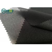 Quality White / Black Polyester Plain Weave Woven Fusing Interlining For Garment Accessories for sale