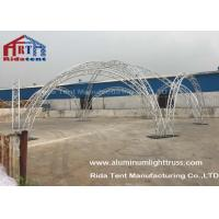 Aluminum Alloy Curved Lighting Truss Systems Durable For Concert / Meeting Room
