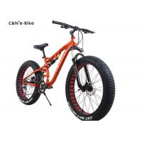 Quality Classic Environment Friendly Electric Fat Tire Snow Bike , Electric Assist Fat Bike for sale