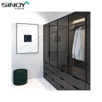 China Wardrobe Black Ral9005 Back Painted Colored Glass For Interior Dressing Room Deco on sale