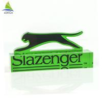Quality Eco - Friendly Acrylic Sign Display Holder Clear Solid Engraved Acrylic Logo Block for sale