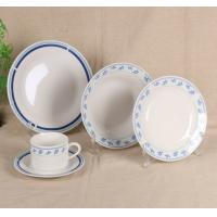 China Ceramic New White Bone China Dinner Sets Custom Color With Flower Printing on sale