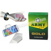 Quality India Army Marked Playing Cards For Poker Analyzer Reader for sale