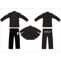 China UFC 375g Pre - shrunk Hemp Bjj Gi Black for Adult Competition on sale