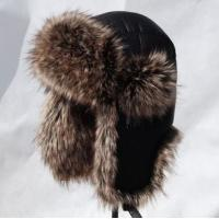 Quality Deluxe Unisex Aviator Hats with Fur design lining with fleece trapper bomber hats snow men caps with earmuffs for sale