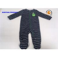 Quality Applique Embroidery Baby All In One Pram Suits Cap Snap Tab Crewneck Coverall for sale