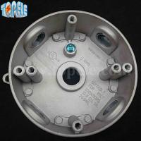 China 4 Die Cast Aluminum Round Weatherproof Electrical Outlet Boxes / Extension Rings on sale