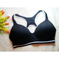 Quality Nylon / Cotton Black Breathable Wirelesss Front Closure Sports Bra  38H for sale