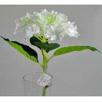 Quality 20 real touch PU artificial flowers Hydrangea cream for sale