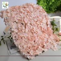 Quality UVG cheap photography backdrops in artificial hydrangea for wedding flower wall decoration for sale
