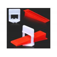 Buy cheap Durable Tile Leveling System Clips For Wall Floor Tile Spacer , Long Life from wholesalers