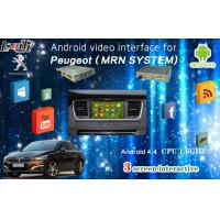 Quality Multilanguage IGO Map Android  Auto Interface with Rear Camera work for Peugeot for sale
