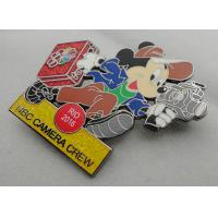 NBC Camera Crew Disney Pin Badge by Zinc Alloy, Synthetic Enamel, Black Nickel, Glitter Filled