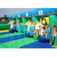 Quality PVC Tarpaulin Inflatable Horse Racing Game For Kids , 3 Years Warranty for sale