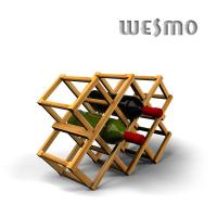 Quality Personalized Decorative Bamboo Environmentally Friendly Wine Rack for sale