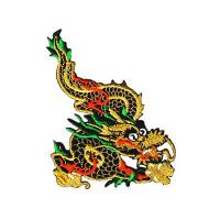 Quality custom Metallic Gold Chinese Dragon Iron On Patch Applique Dragons design for sale