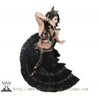 Quality High Class Thick Tribal Belly Dance Costumes Hand Made Fabric Flower for sale