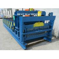 China Corrugating Iron Roofing Sheet Making Machine Metal Roofing Equipment 8m/min - 12m/min on sale