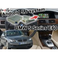 Quality BMW E60 5 series CIC system Car Gps Navigation Mirror link youtube bluetooth Wifi for sale