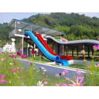 Quality Children Pipe Water Slide , Water Park Slide Customized Color 7.5kW / Slide Power for sale