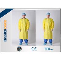 Quality Antibacterial Disposable Protective Gowns / CPE Isolation Gown With Thumb Up for sale