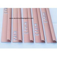 Quality Smooth Matt Anodized Aluminium Curved Edge Tile Trim With Red Copper for sale