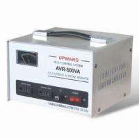 Quality 500W AC Automatic Voltage Regulator with Relay Control System and 1,500V/m Electric Strain for sale