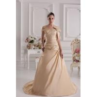 Quality Champagne Sweetheart Off The Shoulder Taffeta A Line Wedding Dress Gown Bow and Broche for sale