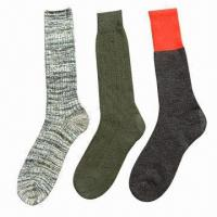 Quality White/Gray/Black/Navy Wool Army/Soldier Socks for sale