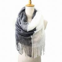 Buy Acrylic Scarf for Various Uses, with Two-tone Color, Very Soft/Warm Neck Warmer, Fashionable Design at wholesale prices
