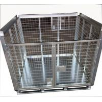 Quality 97Kg Weight Foldable Pallet Container Metal Cage With Bottom 1.2mm Plate for sale