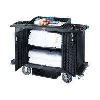 China Black / Grey Room Service Equipments / Hotel Room Supplies 2 Shelves Transport Cart on sale