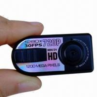 Quality 720P HD Mini Thumb DV with Motion Detection for sale