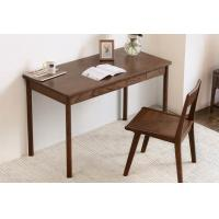 Quality Pure Solid Wood Study Red Oak Computer Desk Black Walnut Color Eco Friendly for sale