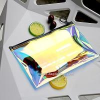 Quality Hot - Stamping TPU Film PVC Cosmetic Bag For Girl / Clear Makeup Organizer for sale