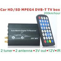 DVB-T7200 Car DVB-T TV box diversity 2 antenna MPEG2/MPEG4 H.264 STB