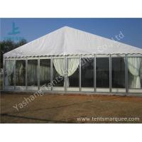Quality Transparent Glass Wall Outdoor Luxury Wedding Tents With Full Beautiful Decorations for sale