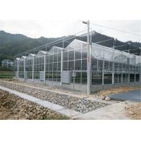 Quality 4m Section Width Garden Greenhouse , Ecological Greenhouse With Cooling Pad Fan System for sale