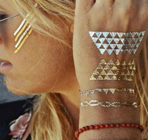China Flash Metallic Body Tattoo for Women with silk screen printing on sale