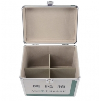 Quality Green acrylic carrying case for accessories aluminum storage box to organize tools for sale