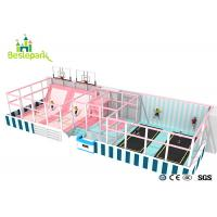 Quality Huge Children Indoor Playground Macaron Theme / Toddler Play Equipment for sale